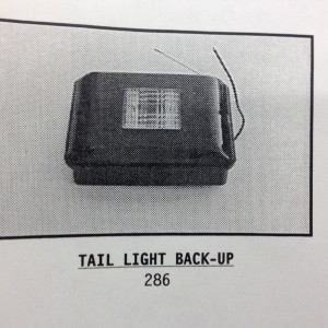 MONACO BACK UP TAIL LIGHT 286